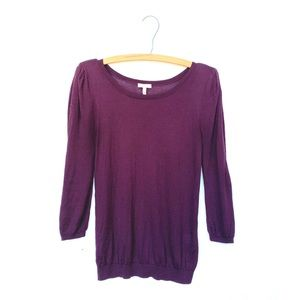 Joie Silk Cashmere Puff Shoulder Sweater